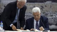 President Mahmoud Abbas signed letters of accession to 15 international conventions and treaties after the Israeli government refused to release the fourth group of Palestinian prisoners. In a meeting of...