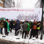 Protest against a visit by Israeli Prime Minister Benjamin Netanyahu.