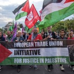 European Trade Union Initiative for Justice in Palestine - demonstration on the streets of Barcelona