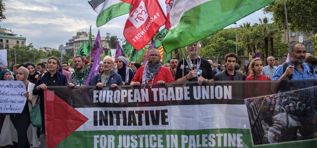 Over 50 trade union delegates representing 23 unions from all over Europe gathered in Barcelona in May at the Second Trade Union Seminar: Justice for Palestine! Ending European complicity in...