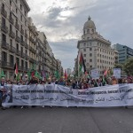 Solidarity with Palestine on the streets of Barcelona